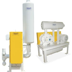 blower package for pneumatic conveying