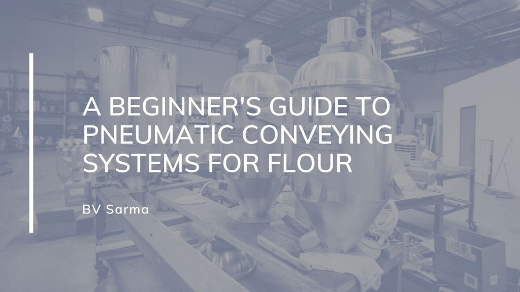 pneumatic conveying system for flour